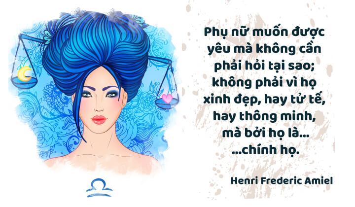 Thiên Bình nữ đại diện cho tình yêu và sắc đẹp