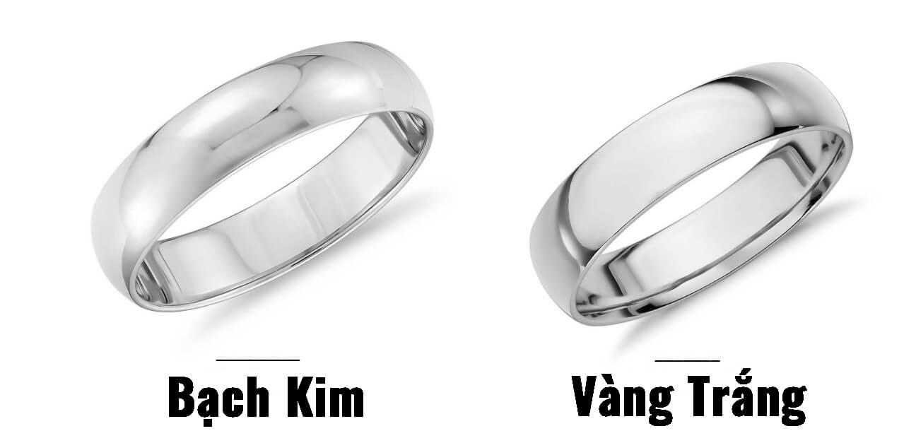 Bạch kim và vàng trắng có gì khác nhau?