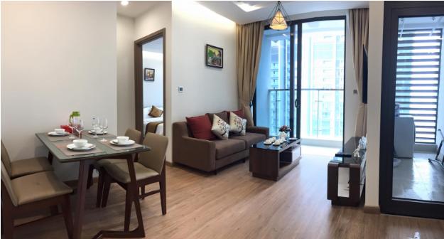 Căn hộ dịch vụ cho thuê được trang bị đầy đủ mang lại không gian sống tiện nghi và thoải mái