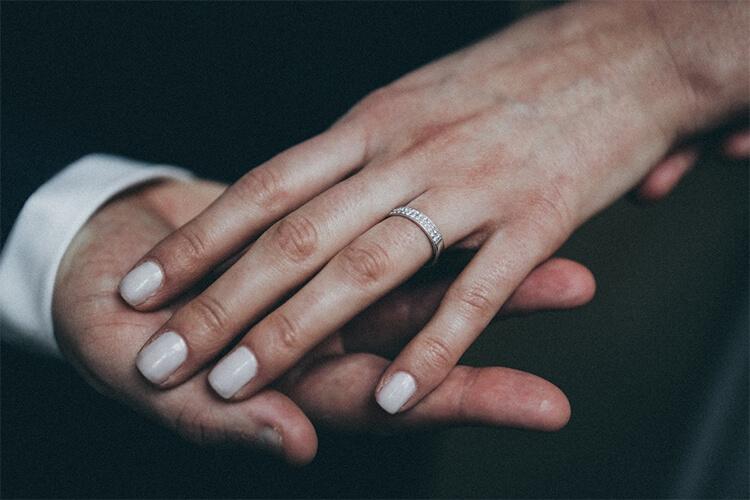 Nhẫn Kết hôn vàng trắng