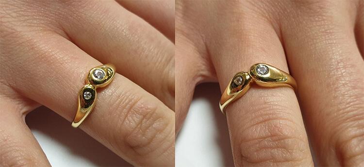 Nhẫn vàng 8k