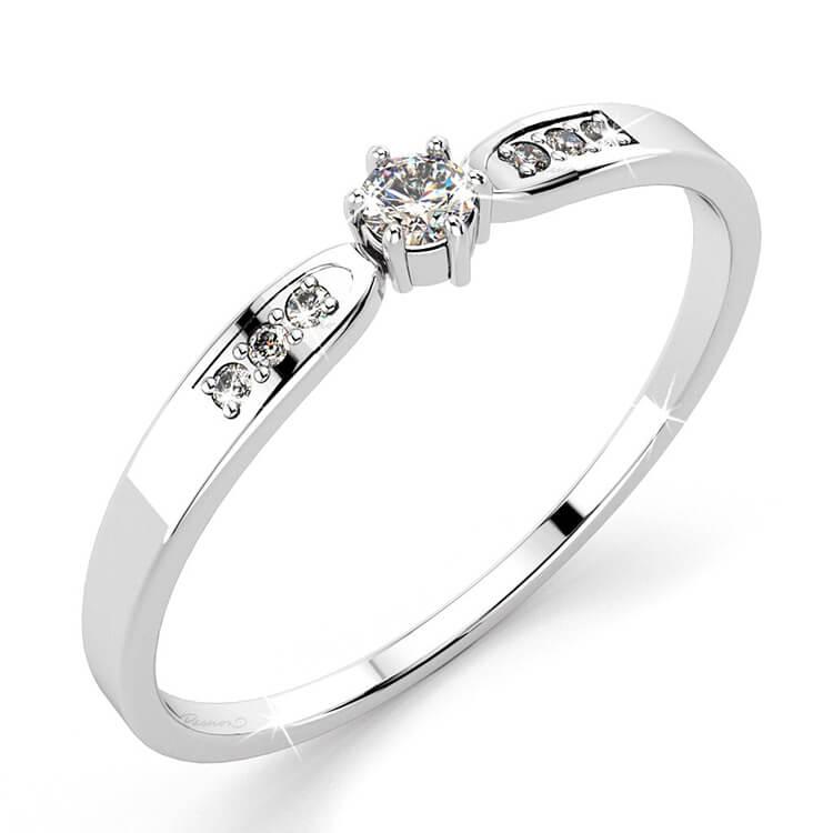 Nhẫn vàng trắng 10k